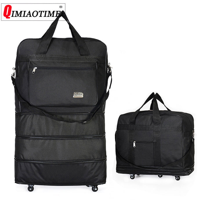 Duffel Portable Travel Bag Rolling Bag Air Roller Expandable Oxford Cloth Luggage Bags with Wheel Night Bags Overnight Weekend