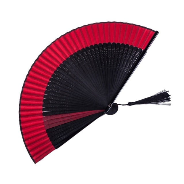 Chinese Paint Black Folding Fan Decorative hand Fan  Decoration Craft For Women For Shopping dance Decoration Crafts Home Decor