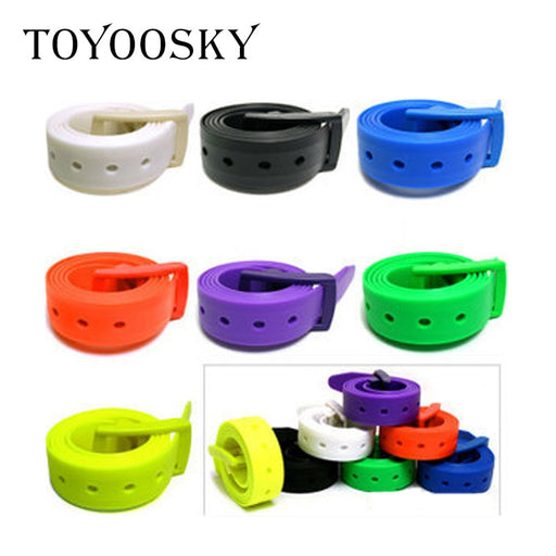 New Eco-Friendly Plastic Belt for Men Women Candy Color Unisex Silicone Rubber Belts Male Female Jeans Leather Strap TOYOOSKY