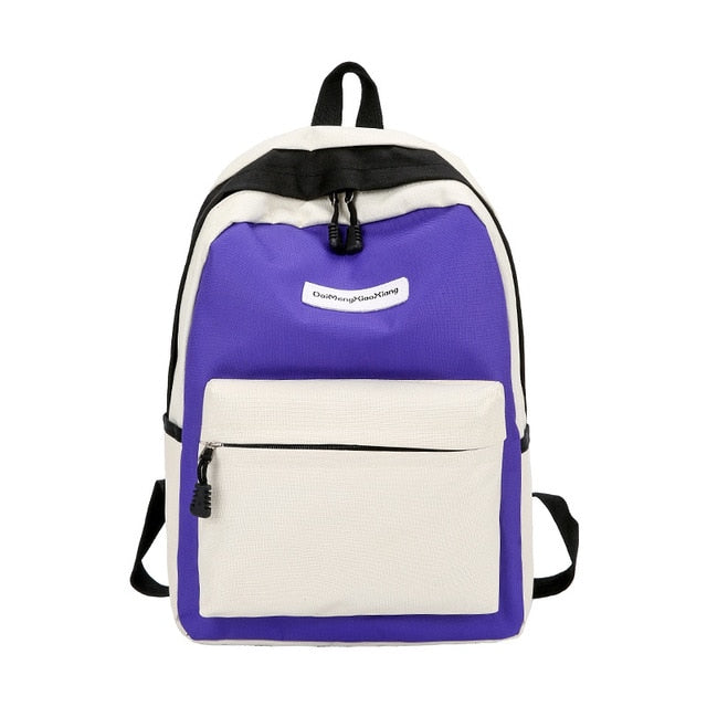 Women's Zipper Bag 2019 New Arrival Student Backpack Female Casual Brand Bag High Quality Canvas School Backpack Girl Travel Bag