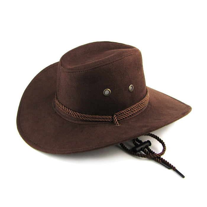 New Arrival Men Women 3 color Large brim Hat Cowboy Hat for Man Millinery Outdoor Hat Sunbonnet Casual Fashion