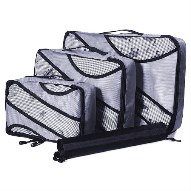 luggage Packing Cube Nylon/Women/Big/Ladies/Large/Waterproof/Travel Bags Organizer Sets  Packing Cube Organizer