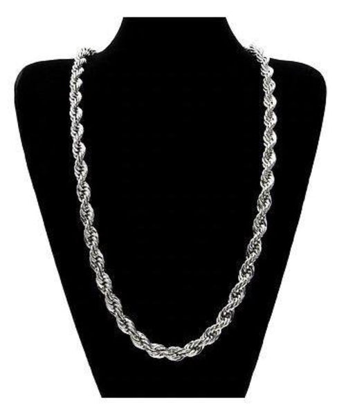 Silver Plated Solid Brass Korean Classic Rope