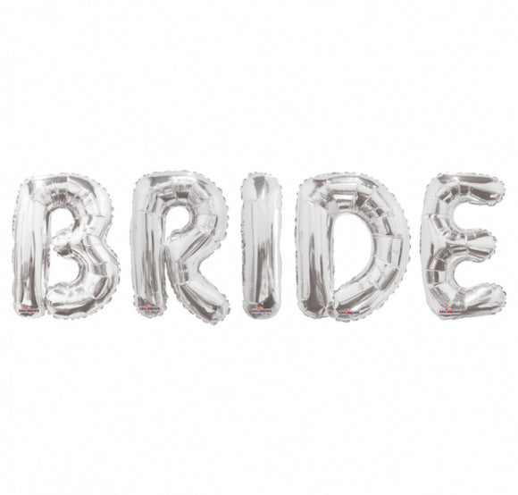 'Bride' Silver Bridal Shower Balloon Pack, Balloons - Big Day Boutique