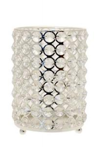 Round Crystal Candle Holder 17.5cm, candle holder - Big Day Boutique