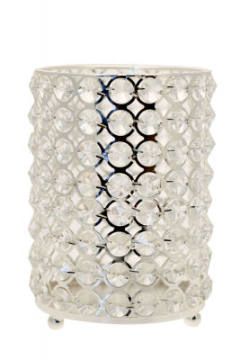 Round Crystal Candle Holder 14cm, candle holder - Big Day Boutique
