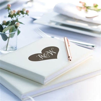 Heart Initials Personalised Wedding Guest Book, Guest Book - Big Day Boutique