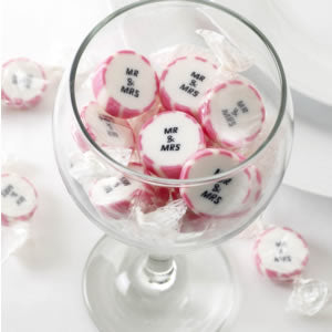 Pink 'Mr. & Mrs.' Rock Sweets, Favours - Big Day Boutique