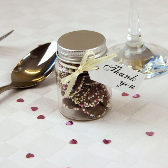 Mini Jar of Chocolate Jazzies, Favours - Big Day Boutique