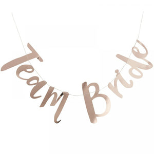Rose Gold 'Team Bride' Bunting, Banners - Big Day Boutique