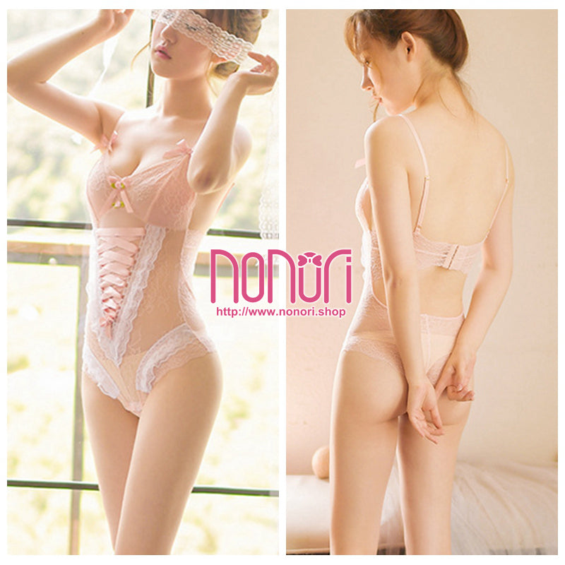 透明レース連体衣Sサイズ/Transparent Lace bodysuit S Size