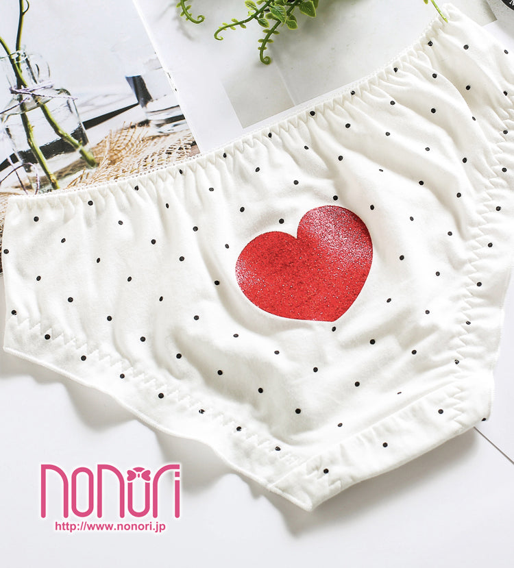 水玉ハートパンツ/polka-dot heart Undies