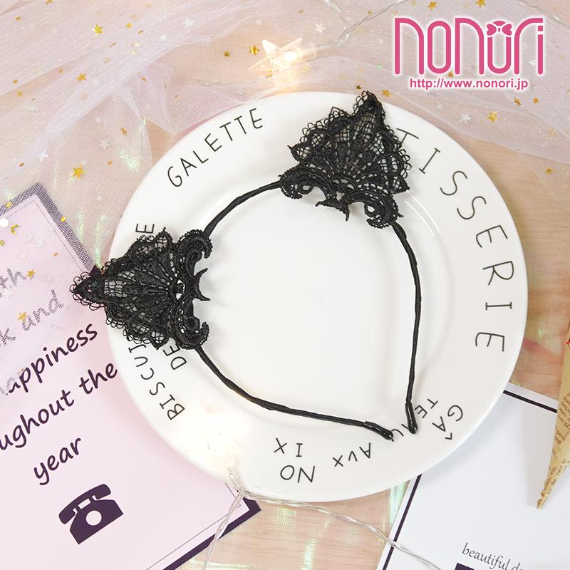可愛い猫耳レースカチューシャ2色/KAWAII NEKO Cat ear Hairband - NONORI E-Commerce