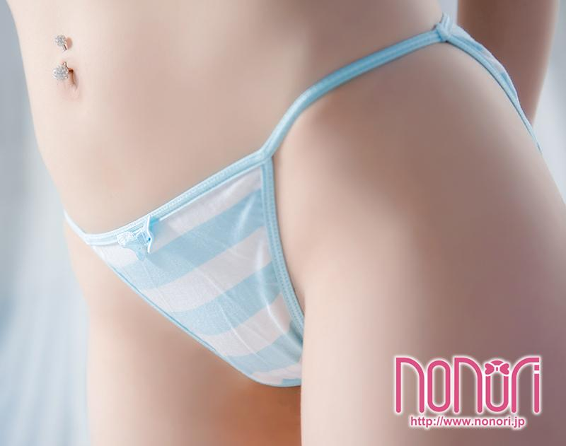 [NONORI]蝶結び縞パンツ3色 Pink and white/Blue and white/Green and white Stripe  Undies - NONORI E-Commerce