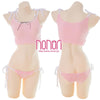 [NONORI]レーススカラップランジェリー 3色 Kawaii Girl Lace Lingerie Set - NONORI E-Commerce