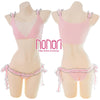 [NONORI]シフォンレースランジェリー 3色 Bubble Sexy Cute Maid Lingerie Set - NONORI E-Commerce
