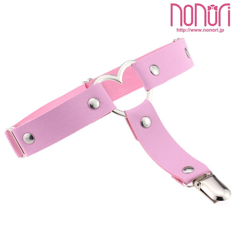 PUハートガーター4色/PU Heart Garter - NONORI E-Commerce