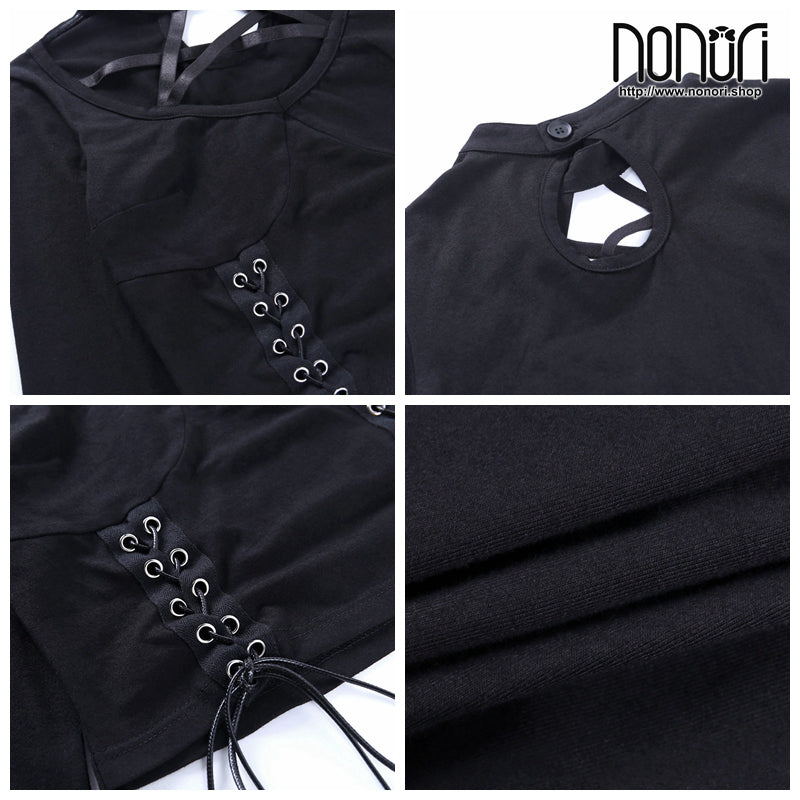 五芒星クロスバンド長袖上着22336p/pentacle star cross band long sleeve top 22336p