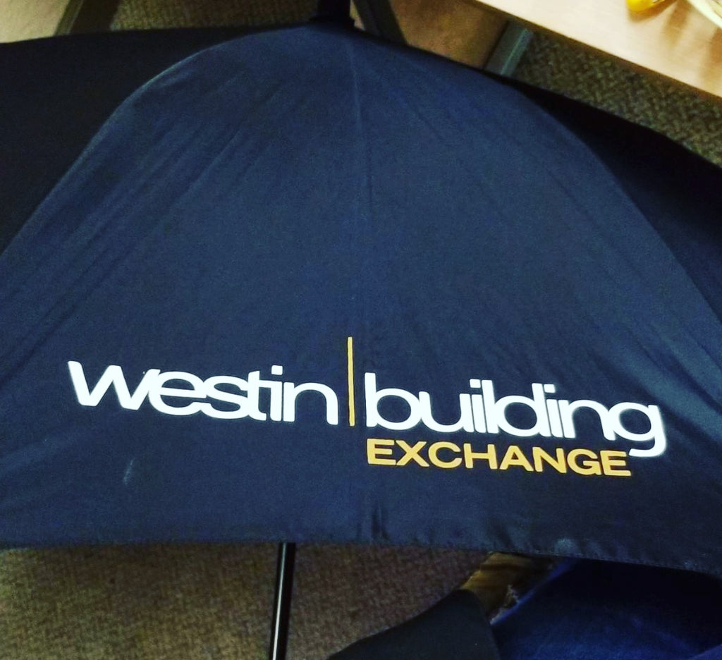 Custom Umbrellas for Seattle Telecommunications Company