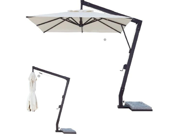 Fiberglass Square Offset Patio Umbrella - 10 foot x 10 foot