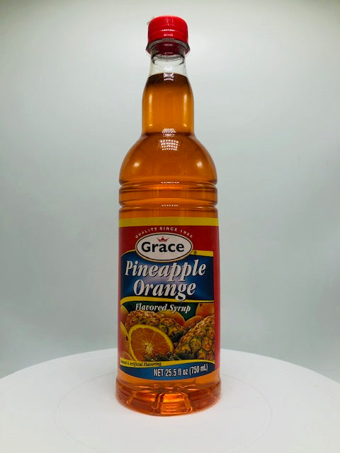 GRACE PINEAPPLE ORANGE SYRUP 750 ML