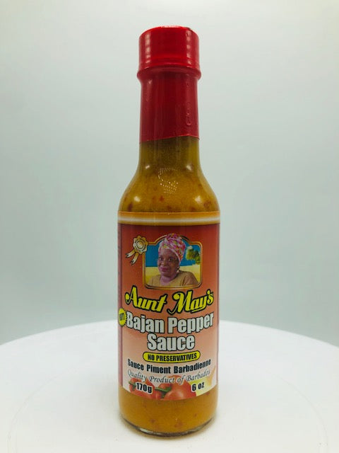 AUNT MAY'S BAJAN PEPPER SAUCE 6 OZ