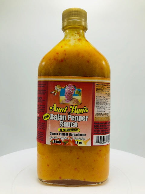 AUNT MAY BAJAN PEPPER SAUCE 12 OZ