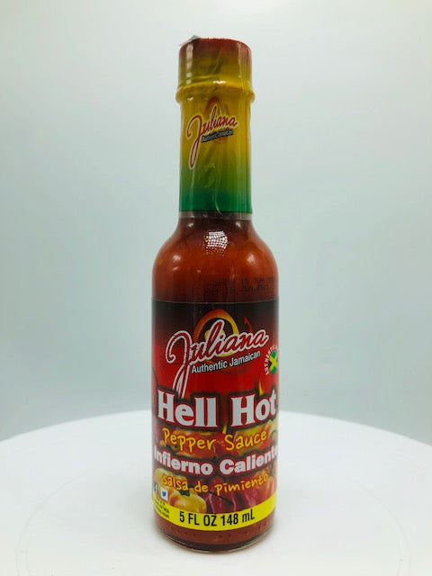 JULIANA HELL HOT PEPPER SAUCE 5 OZ