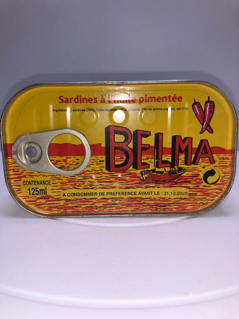 BELMA SPICED SARDINES IN VEGETABLE OIL 120 G