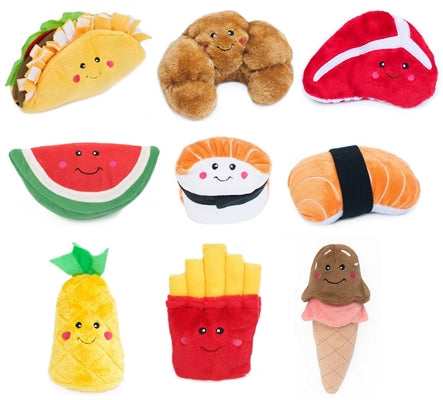 Fun Food Nom Nom Plush Toys