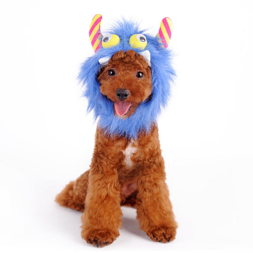 Furry Blue Monster Hat