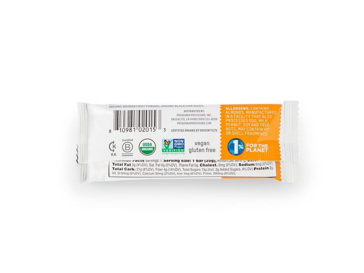 Patagonia Provisions Organic Apricot + Almond Bars - 12 Pack