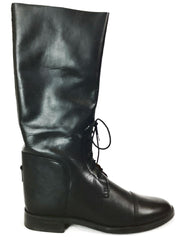 Amazonas Cavalier Womens Size 8 Regular Black Leather Lace-up Riding Boots