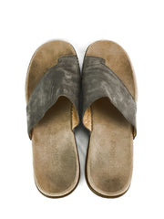 Gabor Toe Loop Womens Size 9.5 42 Grey Nubuck Leather Sandals