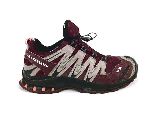 Salomon XA 3D Ultra 2 Womens 6.5 38 Purple Waterproof Lock Lace Running Shoes