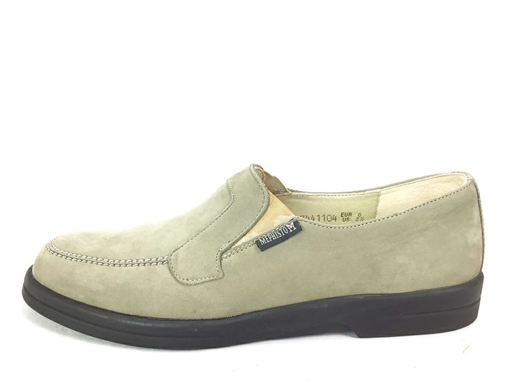 Mephisto Womens Size 8.5 Beige Nubuck Leather Slip-On Loafer Shoes