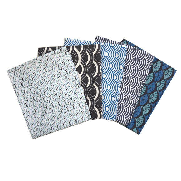 Fan and Waves Fat Quarter Bundle