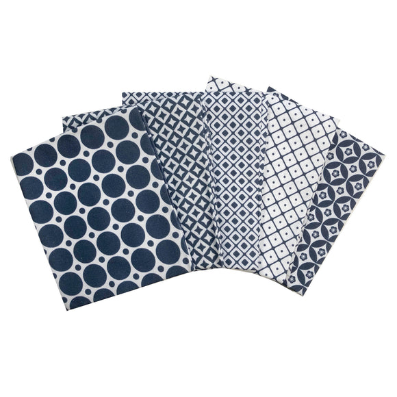 Medley Pattern Navy and White Fat Quarter Bundle