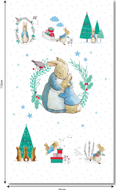 Peter Rabbit Chrismas Panel