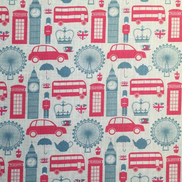 London Transport - Printed Polycotton
