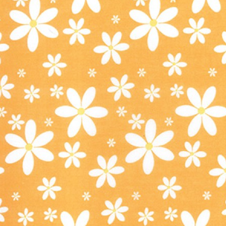 Orange Daisy - Printed Polycotton