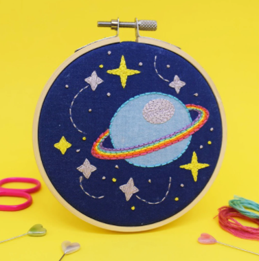 The Make Arcade 'Galaxy Space' Embroidery Kit