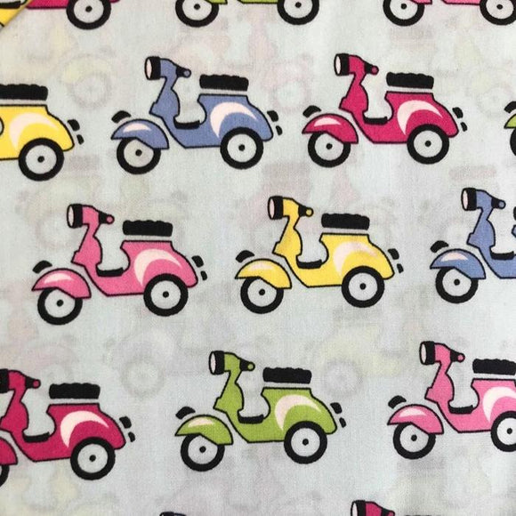 Blue Scooter Cotton Poplin by Rose and Hubble