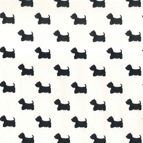 Westie Dog Grey on White by Rose and Hubble