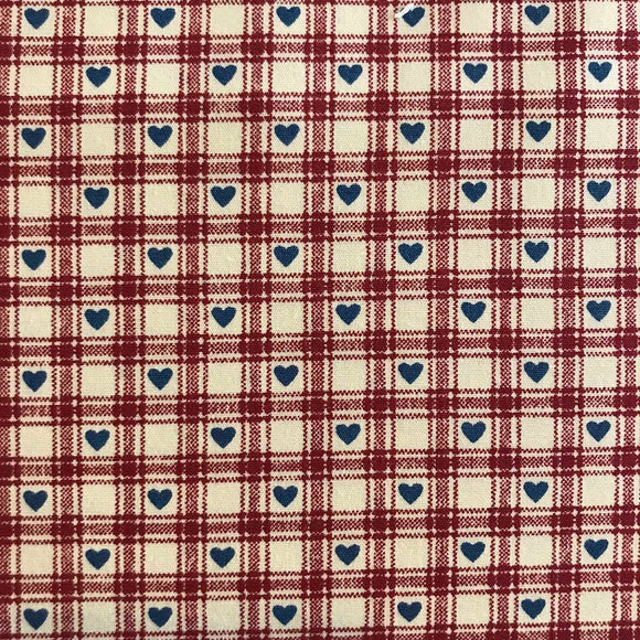 Red Heart Gingham by Rose and Hubble