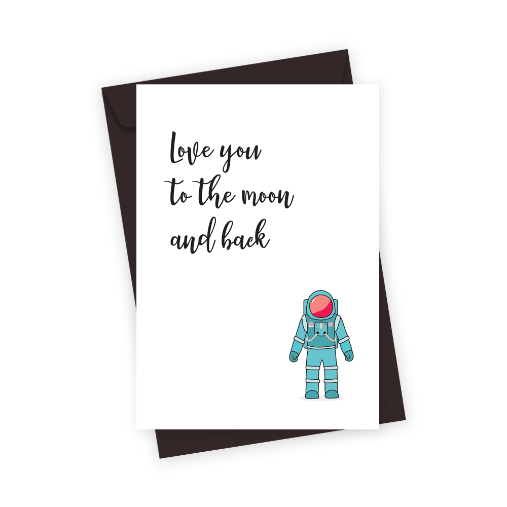 Moon and back greeting card bubblegum effect m4hsunfo