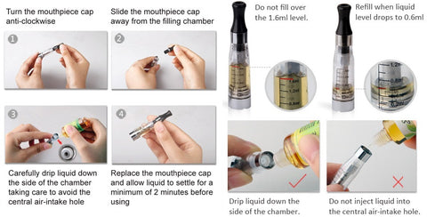 How to refill your clearomizer