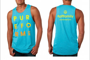PFT Summer Swag – Men's – Blue Tank – Ye/Or