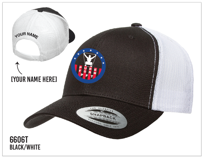 PFT Trucker Hat Black/White