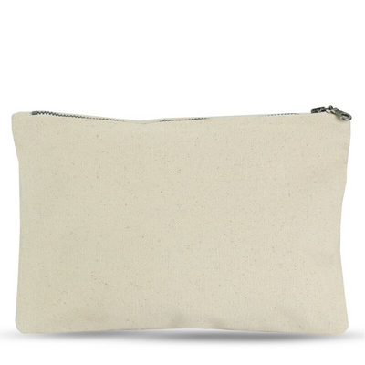 Large Zip Pouch in Fair Trade + GOTS Organic Canvas
